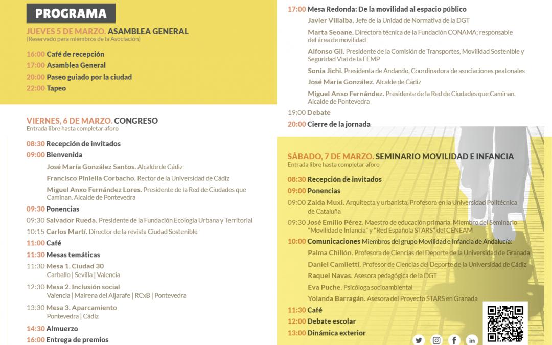 Ciudades 30, aparcamiento e inclusión social, temas de las mesas de debate del VII Congreso
