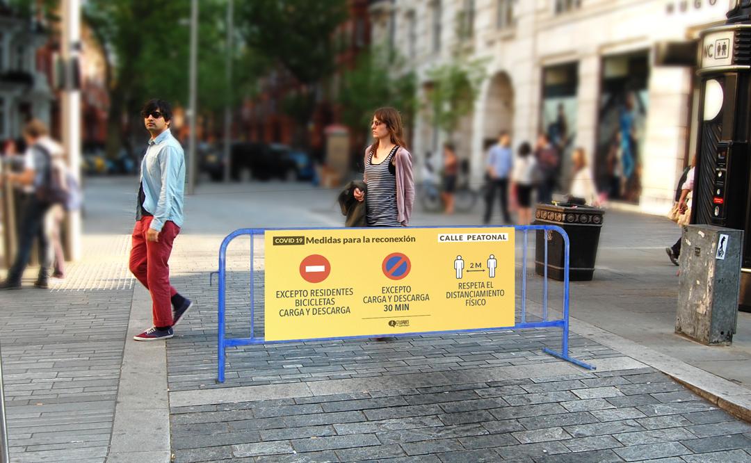 Ciudades que Caminan facilita prototipos de señales para el urbanismo táctico peatonalizador
