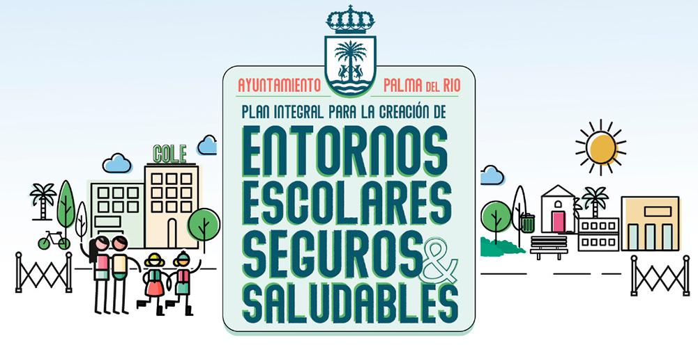Palma del Río ensayó en junio las entradas y salidas de los coles sin coches, para aplicarlo en el nuevo curso escolar